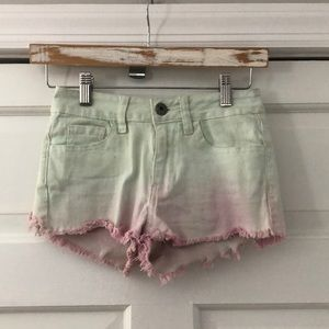 BULLHEAD Teal/Purple High-Rise Denim Shorts 00